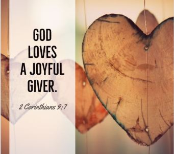 God loves a joyful giver