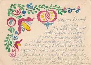 flower 1 postcard to grandpa Blazek (1)